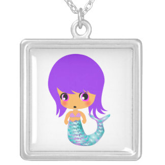 chibi magical mermaid 1 personalized necklace