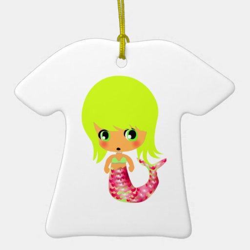 chibi magical mermaid 3 christmas ornament