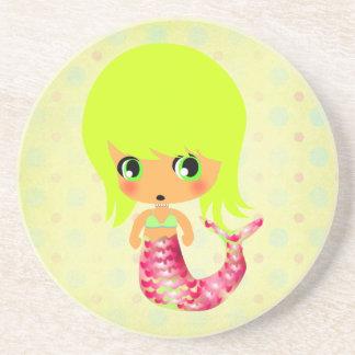chibi magical mermaid 3 coaster