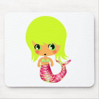 chibi magical mermaid 3 mouse pad