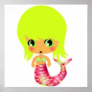 chibi magical mermaid 3 poster