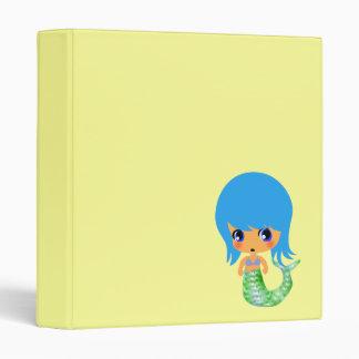 chibi magical mermaid blue hair binder
