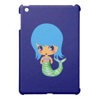 chibi magical mermaid blue hair case for the iPad mini