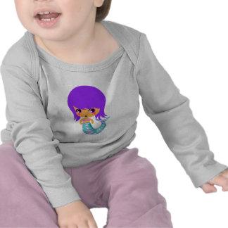 chibi magical mermaid purple hair tshirt