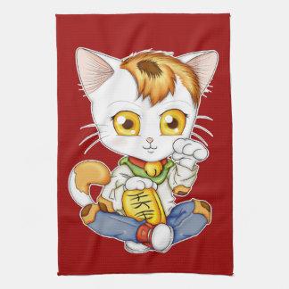Chibi Maneki Neko Hand Towel
