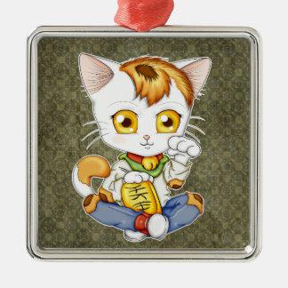 Chibi Maneki Neko Metal Ornament