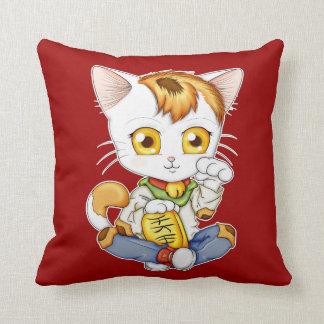 Chibi Maneki Neko Throw Pillows