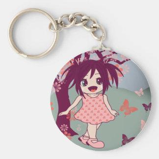 Chibi Manga Anime Little Kawaii Girl Keyring