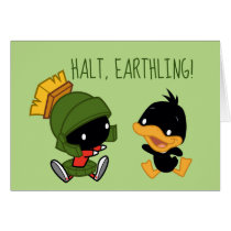 Chibi MARVIN THE MARTIAN™ & DAFFY DUCK™ Card