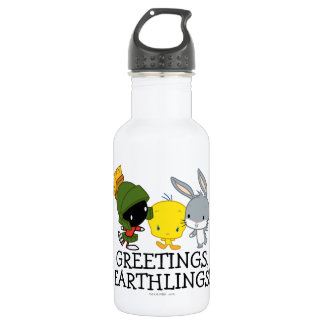 Chibi MARVIN THE MARTIAN™, TWEETY™, & BUGS BUNNY™ Water Bottle