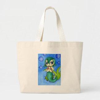 Chibi Mermaid Jumbo Tote Bag