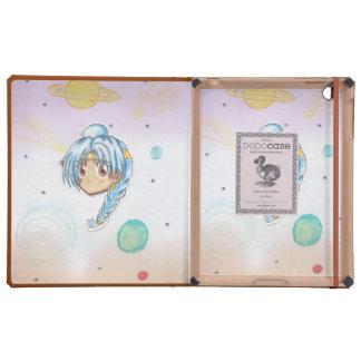 Chibi Miko (w/collage background) iPad DoDo Case
