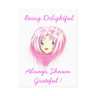 Chibi Mio 'Being Delightful' Canvas Gallery Wrapped Canvas