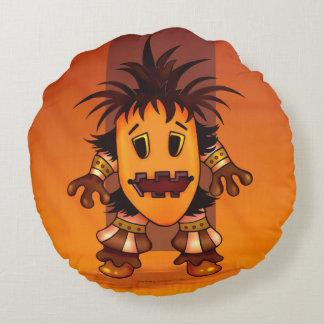 CHIBI MONSTER ALIEN GRADE A COTTON Round pillow