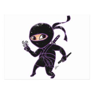 Chibi Ninja (distressed) Postcard