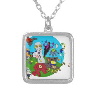 Chibi Ninja Story Silver Plated Necklace