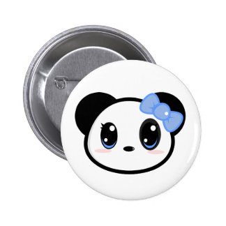 Chibi Panda Girl Button