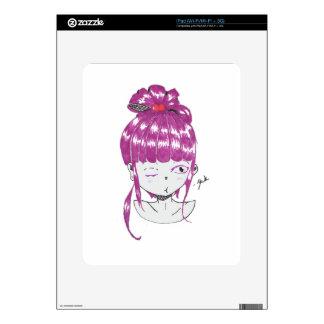 chibi pink hair teen girl skins for the iPad