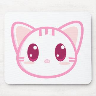 Chibi Pink Kitty Mousepad