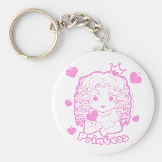 Chibi Princess Button Keychain