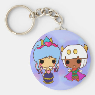 Chibi queen and her friend key chain
