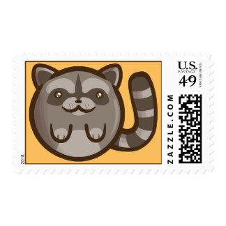 Chibi Raccoon Postage Stamp