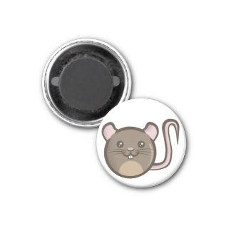 Chibi Rat 1 Inch Round Magnet