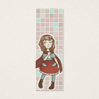 Chibi Red Riding Hood Bookmark Mini Business Card