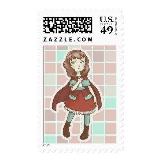 Chibi Red Riding Hood Stamp
