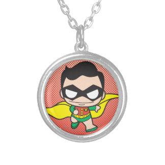 Chibi Robin Round Pendant Necklace