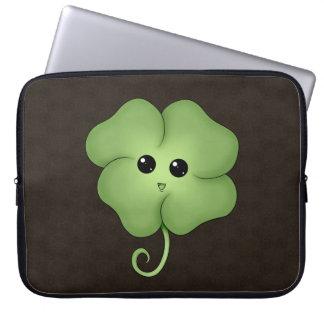 Chibi Saint Patrick's Day Clover Laptop Sleeves