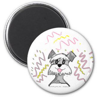 Chibi Schnauzer 2 Inch Round Magnet