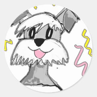 Chibi Schnauzer Round Sticker