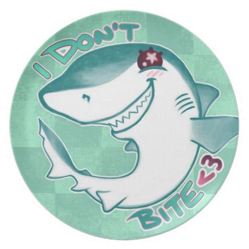 Chibi Shark Party Plates Zazzle