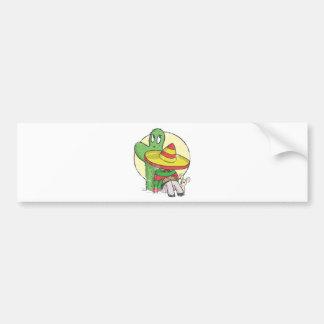 chibi sombrero distressed bumper sticker