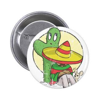 chibi sombrero distressed pin