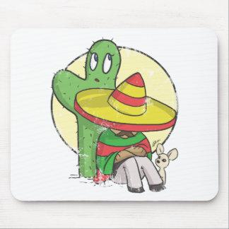chibi sombrero distressed mouse pad