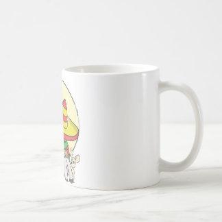 chibi sombrero distressed classic white coffee mug