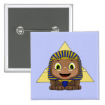 Chibi Sphinx With Pyramids Buttons