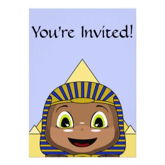 Chibi Sphinx With Pyramids Personalized Invite