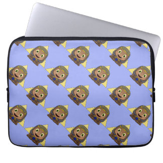 Chibi Sphinx With Pyramids Laptop Sleeve