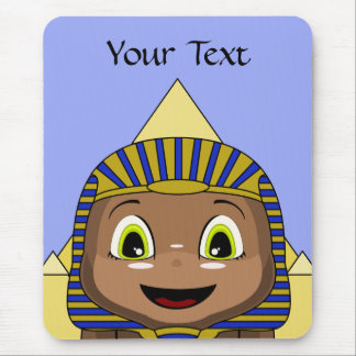 Chibi Sphinx With Pyramids Mousepad