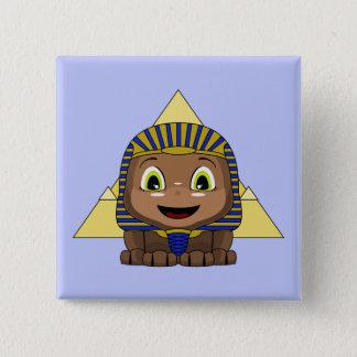 Chibi Sphinx With Pyramids Pinback Button