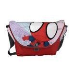 Chibi Spider-Man & City Graphic Messenger Bag