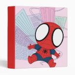 Chibi Spider-Man y gráfico de la ciudad