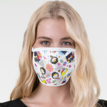 Chibi Super Heroine Pattern Face Mask