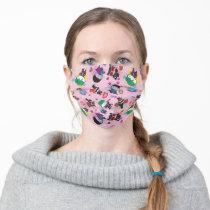 Chibi Super Villain Action Pattern Adult Cloth Face Mask