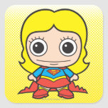 Chibi Supergirl Calcomania Cuadrada Personalizada