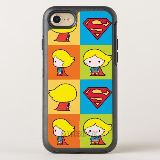 Chibi Supergirl Character Turnaround OtterBox Symmetry iPhone SE/8/7 Case