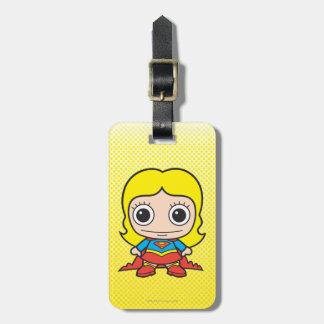 Chibi Supergirl Etiquetas Maleta